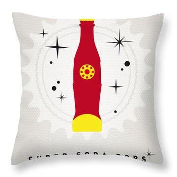 My Super Soda Pops No-09 Throw Pillow by Chungkong Art