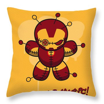 My Supercharged Voodoo Dolls Ironman Throw Pillow