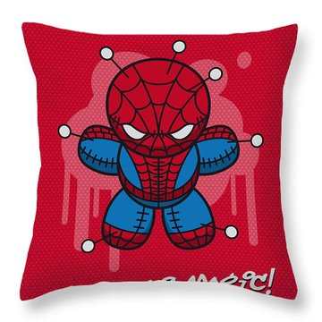 My Supercharged Voodoo Dolls Spiderman Throw Pillow