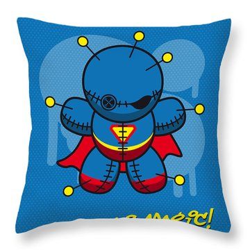 My Supercharged Voodoo Dolls Superman Throw Pillow