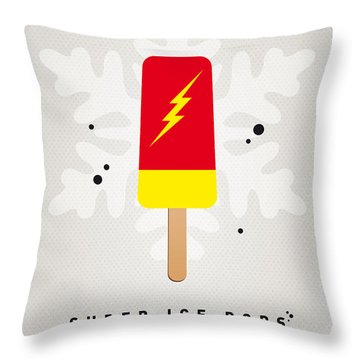 My Superhero Ice Pop - The Flash Throw Pillow