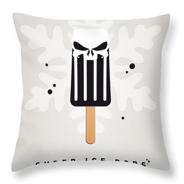 My Superhero Ice Pop - The Punisher Throw Pillow by Chungkong Art