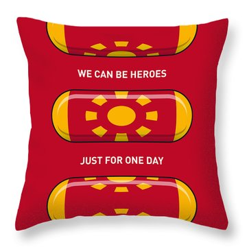 My Superhero Pills - Iron Man Throw Pillow