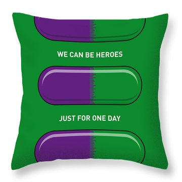 My Superhero Pills - The Hulk Throw Pillow by Chungkong Art