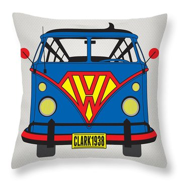 My Superhero-vw-t1-superman Throw Pillow
