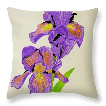 My Sweet Iris Throw Pillow