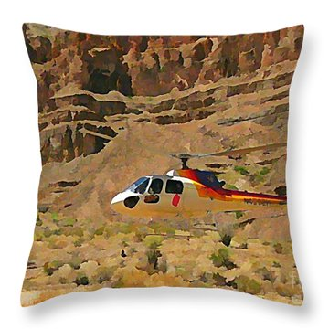My Taxi To The Grand Canyon And Back Throw Pillow by John Malone