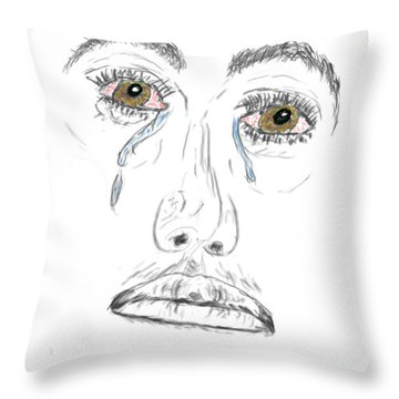 My Tears Throw Pillow