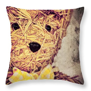My Teddy Bear Throw Pillow by Angela Doelling AD DESIGN Photo and PhotoArt