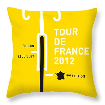 My Tour De France 2012 Minimal Poster Throw Pillow