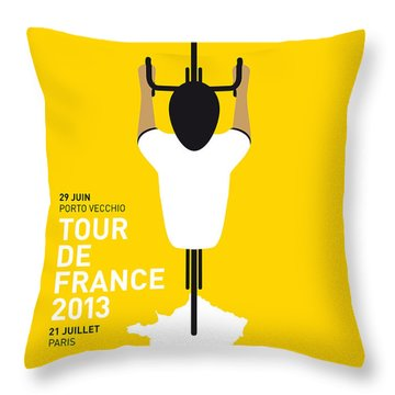 My Tour De France Minimal Poster Throw Pillow