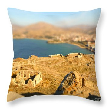 Throw Pillow featuring the photograph My Toy Castle by Vicki Spindler