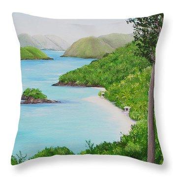 My Trunk Bay Throw Pillow