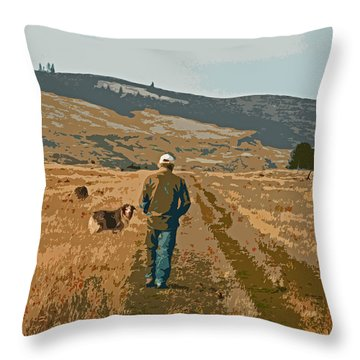 My Two Best Friends Throw Pillow