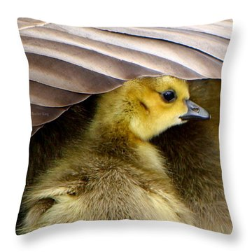 Throw Pillow featuring the photograph My Umbrella by Heather King