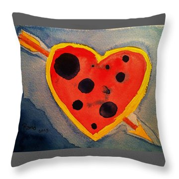 Throw Pillow featuring the painting Imperfect Love by Rand Swift