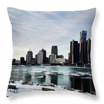 Motor City Throw Pillow