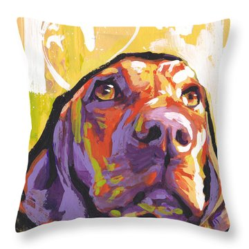 My Vizsla Heart Throw Pillow