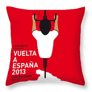 My Vuelta A Espana Minimal Poster - 2013 Throw Pillow