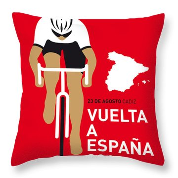 My Vuelta A Espana Minimal Poster 2014 Throw Pillow by Chungkong Art