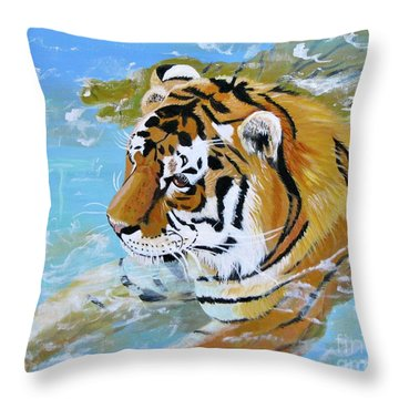 My Water Tiger Throw Pillow