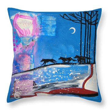 My Wildish Nature Throw Pillow by Cat Athena Louise