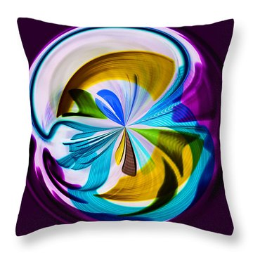 My World Throw Pillow by Sonya Lang