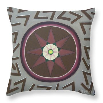 Throw Pillow featuring the painting My Yantra by Mini Arora