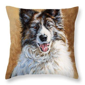 Mya Throw Pillow by Richard De Wolfe