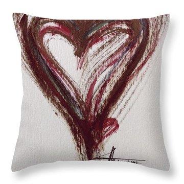 Myeloma Awareness Heart Throw Pillow