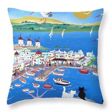 Mykonos Throw Pillows