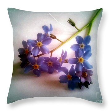 Myosotis  Forget Me Not Throw Pillow