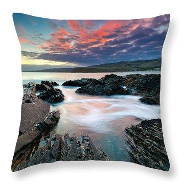 Myponga Beach Sunrise Throw Pillow