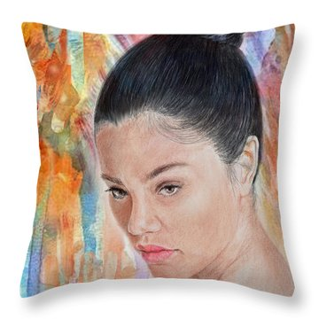 Myra Molloy Winner Of Thailand Got Talent II Throw Pillow