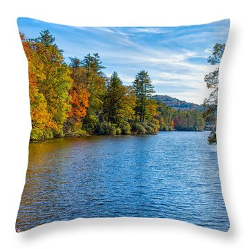 Myriad Colors Of Nature Throw Pillow