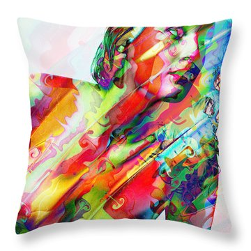 Myriad Of Colors Throw Pillow