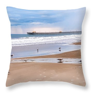 Myrtle Beach - Rainy Day Throw Pillow