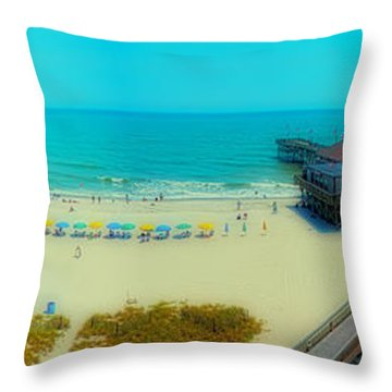 Throw Pillow featuring the photograph Myrtle Beach South Carolina by Alex Grichenko