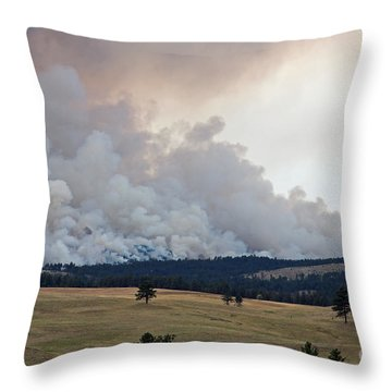 Throw Pillow featuring the photograph Myrtle Fire West Of Wind Cave National Park by Bill Gabbert