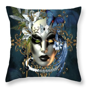 Mysteries Of The Mask 1 Throw Pillow