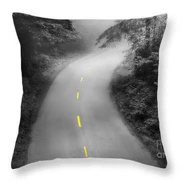 Mysterious Throw Pillow by Alice Cahill