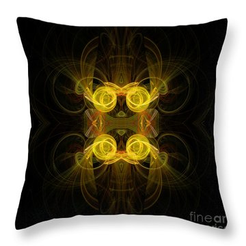 Throw Pillow featuring the digital art Mysterious Energy by Hanza Turgul