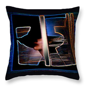 Throw Pillow featuring the painting Mysterious Lady by Hartmut Jager