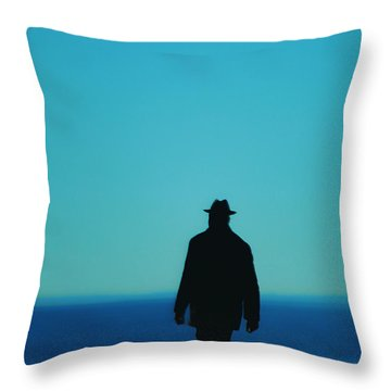 Mysterious Man Throw Pillow by Karol Livote