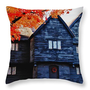 Mysterious Salem Throw Pillow by Jeff Folger