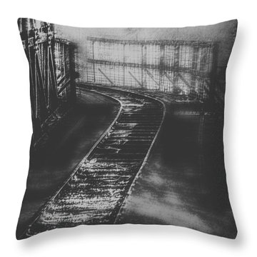 Mysterious Train Tracks Throw Pillow by Melanie Lankford Photography