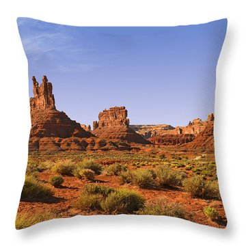 Mysterious Valley Of The Gods Throw Pillow by Christine Till