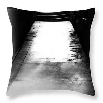 Mysterious Walkway Throw Pillow by Shelby  Young