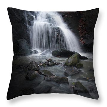 Mysterious Waterfall Throw Pillow