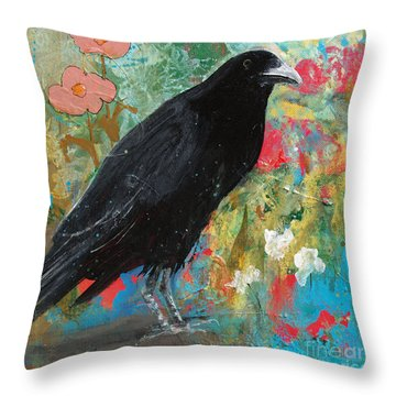 Throw Pillow featuring the painting Mystery At Every Turn by Robin Maria Pedrero